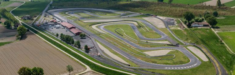 Foto aeree del circuito Tazio Nuvolari in provincia di ...